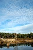 Landscape With Pond, River.