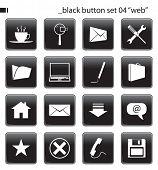 Постер, плакат: Черные кнопки задать 04 «веб»