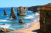 picture of 12 apostles  - 12 apostles great ocean road victoria australia on a bright sunny day - JPG