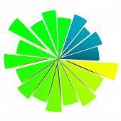 image of pie chart  - color pie diagram 3D graphic shape up improvement marketing steps - JPG