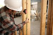 Construction Electrician Measuring