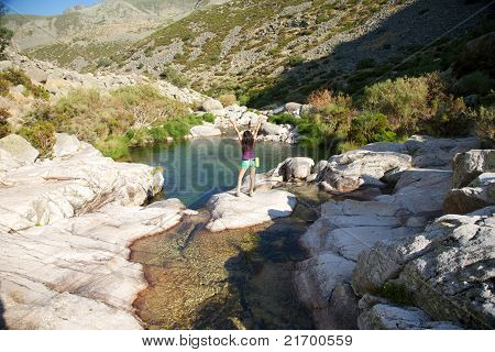 Happines At Gredos River
