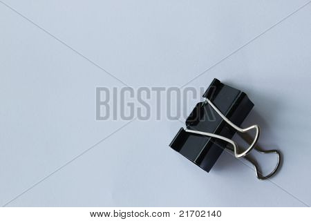 A Typical Paper Clip Shot With Wide Angle Lens Isolated On White.