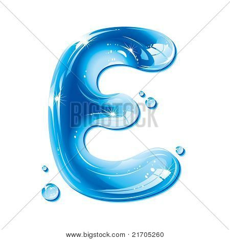 ABC series - Water Liquid Letter - Capital E