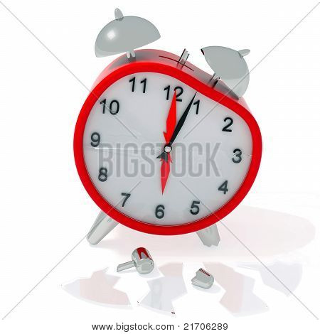Crashed Alarm Clock