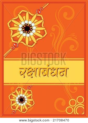 vector illustration of greeting card for rakhi