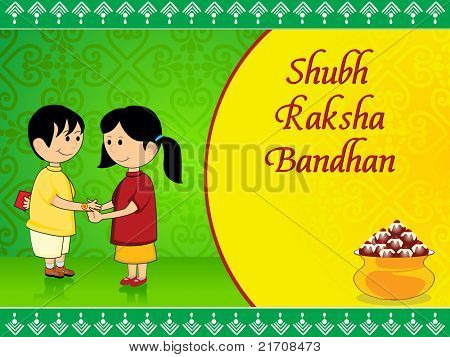 beautiful concept greeting card for rakshabandhan celebration