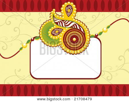 seamless floral pattern background with rakhi