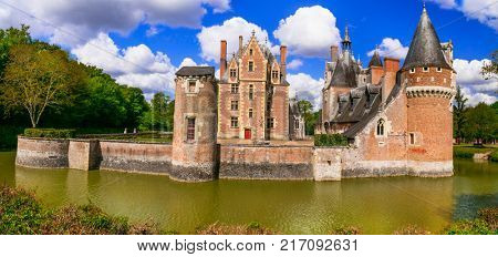 Romantic beautiful castles of Loire