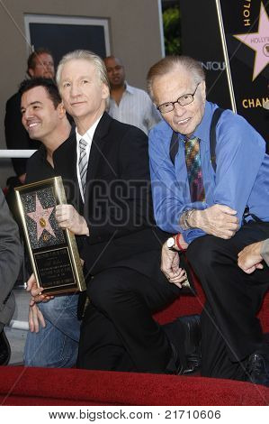 LOS ANGELES - SEP 14: Seth MacFarlane, Bill Maher and Larry King at the Walk of Fame ceremony where Bill Maher receives the 2415th in Los Angeles, California on September 14, 2010