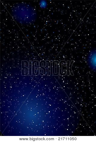 Stella space background wallpaper concept with clouds and stars