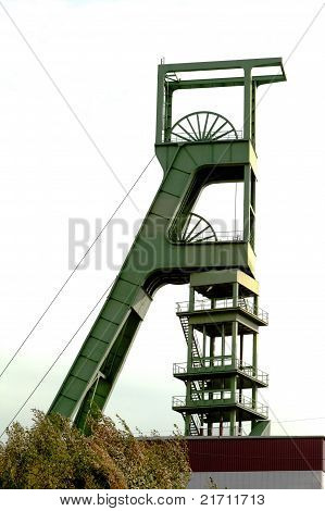 Coal mine headgear tower