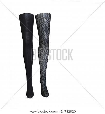 Mannequin Legs With Fancy Stockings