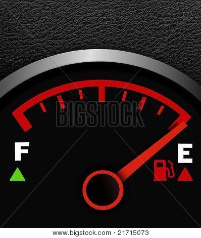 Gas empty meter