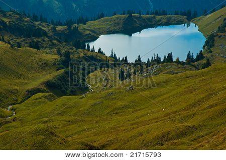 Mountain Lake In Bavaria