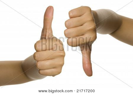 Thumb Up And Thumb Down