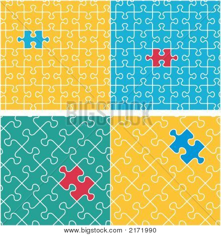 Jigsaw Puzzle Repeat Patterns