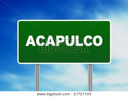 Acapulco Highway  Sign