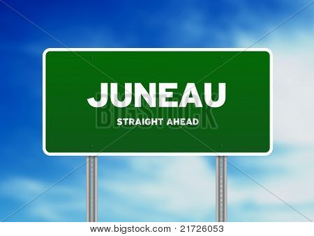 Juneau, Alaska Highway  Sign
