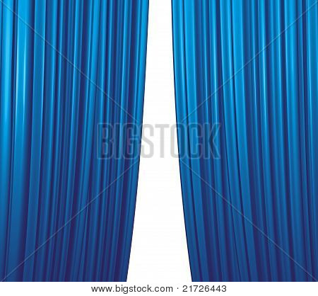 Blue Curtain Closing