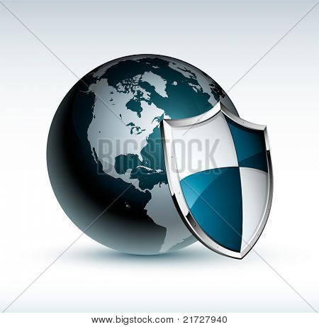 earth and shield icon