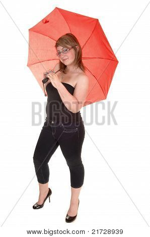 Umbrella Holding Teenager.