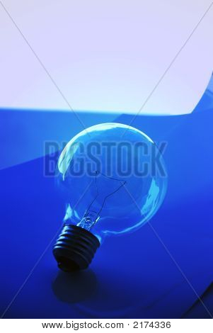 Light Bulb And Blue