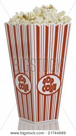 Popcorn Box on white background