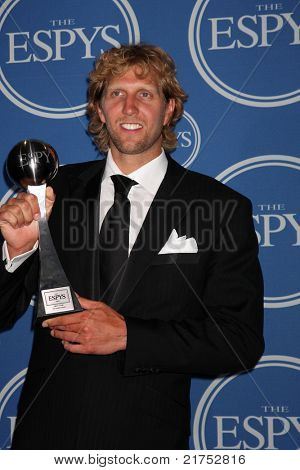 LOS ANGELES - JUL 13:  Dirk Nowitzki in the Press Room of the 2011 ESPY Awards at Nokia Theater at LA Live on July 13, 2011 in Los Angeles, CA