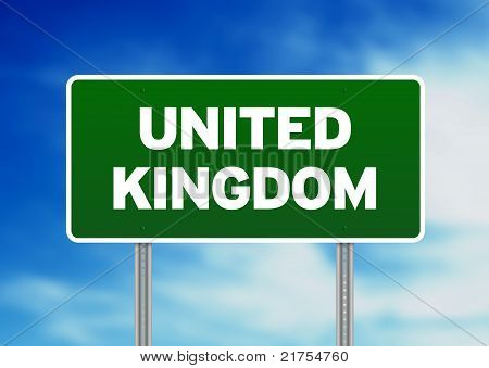 United Kingdom Highway  Sign