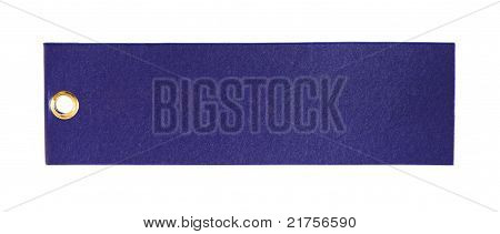 Rectangular Blank Tag