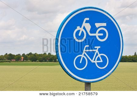 Traffic Sign In Rural Landscape