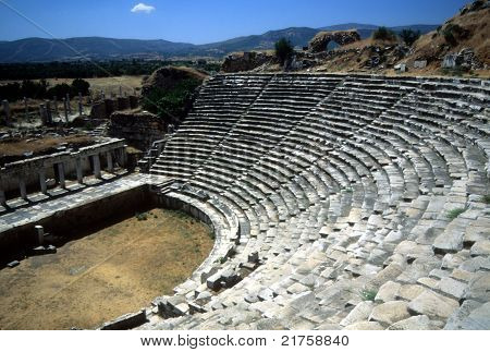 Theatre Seats And Greek Stage