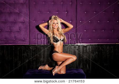 A imagem de uma linda mulher