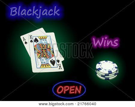 Open Blackjack Wins