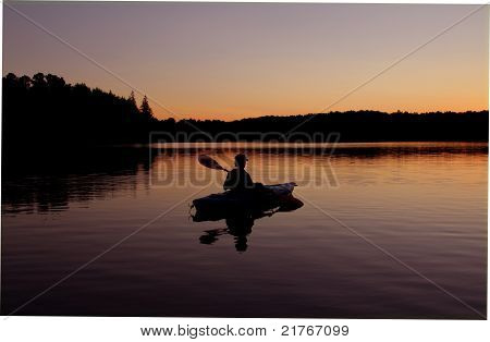 Kayaking at Twilight
