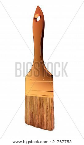 Renovation: Golden Paintbrush Isolated
