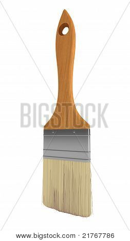 Renovation: Wooden Paintbrush Isolated