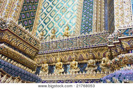 Ornamental Wall In Buddhist Temple