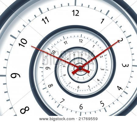 An image of a nice time spiral clock