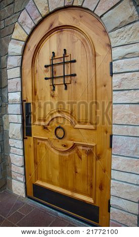 New Knotty Pine Door