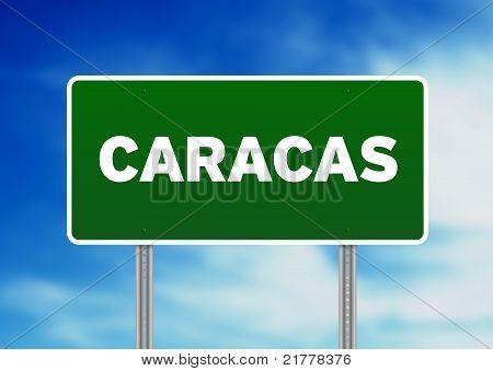 Caracas Highway Sign