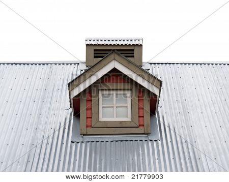 Small Dormer Window in metal roof