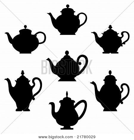 Set of teapots