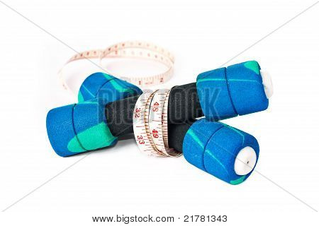 Dumbells And A Measuring Tape