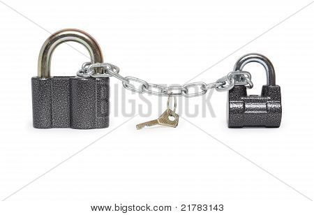 Padlocks And Key