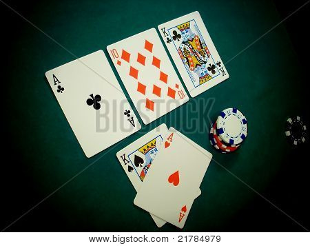 Texas Hold Flop Angled View