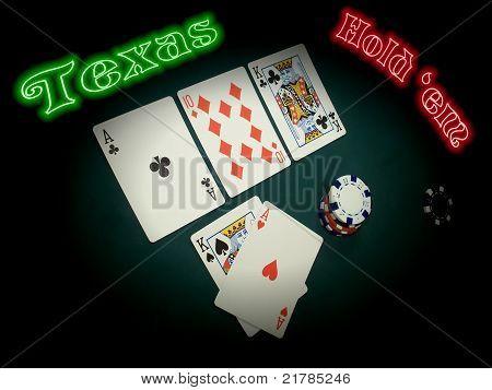 Neon Texas Hold Em