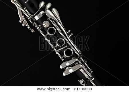 Soprano Clarinet Isolated O Black