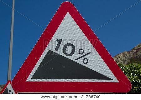 10% Gradient Sign.